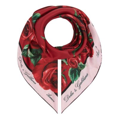 Dolce Gabbana floral logo headscarf, Brown Thomas €295