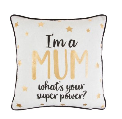 Sass and Belle metallic monochrome cushion, Very €19.99