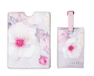 Ted Baker luggage tag and passport set, GettingPersonal.co.uk £29.99