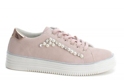 XTI rose goldm trainers, Greenes Shoes €55