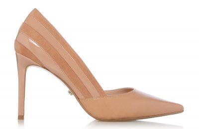 Barrelle-panel-detailed-court-shoe,-Dune-London-€105