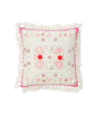 Coral pom pom cushion, Very €38
