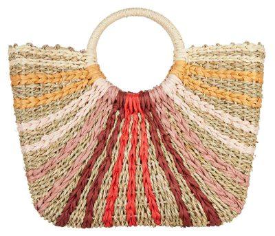 Neutral stripe straw bag, Next €52