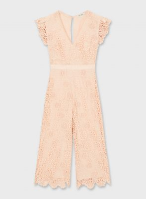 3D lace floral print jumpsuit, Miss Selfridge Ôé¼110 2