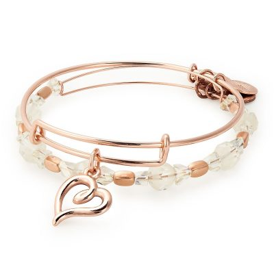 Alex and Ani Handwritten Heart bangles, Fallers €68