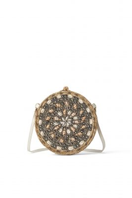 Esparto crossbody bag with seashells, Zara €49.95