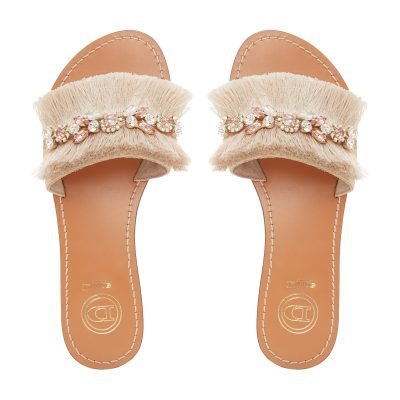 Lostsprings fringe detail slider sandals, Dune €115