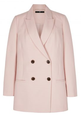 V by Very double breasted textured blush blazer, Littlewoods €52