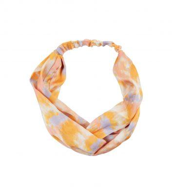 Yellow and purple tie dye headband, New Look €7.99