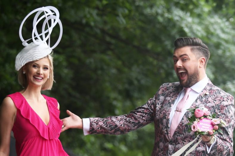 Model Katie Geoghegan & RTÉ Television Presenter James Patrice