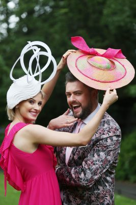 Model Katie Geoghegan & RTÉ Television Presenter James Patrice