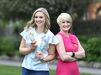 TV presenter Anna Daly and CEO of the Irish Cancer Society  Averil Power