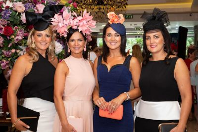 Fashionista's were at the ready as the Galway Races Kickstarter event at Salthill Hotel, Prom to Paddock on Monday, 29th July. The Style & Dine Luncheon in aid of Enable Ireland made a welcome return to the Galway social calendar for 2019. Glamour meets goodwill as all monies raised from the event will go towards the work of Enable Ireland. The afternoon kicked off at 12 noon with an Aperol Spritz cocktails, four-course meal and guests enjoyed a fashion showcase which was all compered by one of Irelands most stylish women and Catwalk Modelling Agency MD Mandy Maher and TV3 showbiz correspondent Noel Cunningham. Pictured are sisters Louise, Fiona, Gretta and Shelly Faherty. Photo Martina Regan