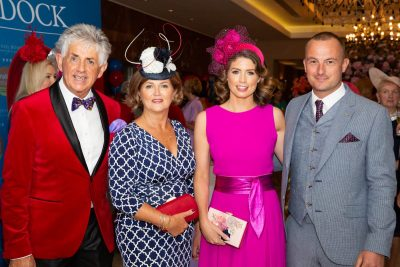 Fashionista's were at the ready as the Galway Races Kickstarter event at Salthill Hotel, Prom to Paddock on Monday, 29th July. The Style & Dine Luncheon in aid of Enable Ireland made a welcome return to the Galway social calendar for 2019. Glamour meets goodwill as all monies raised from the event will go towards the work of Enable Ireland. The afternoon kicked off at 12 noon with an Aperol Spritz cocktails, four-course meal and guests enjoyed a fashion showcase which was all compered by one of Irelands most stylish women and Catwalk Modelling Agency MD Mandy Maher and TV3 showbiz correspondent Noel Cunningham. Pictured are Noel Cunningham, Sandra Byrne, Lorna Muldoon and Tom Lee. Photo Martina Regan