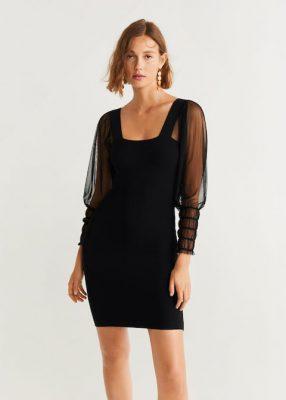 Chiffon Sleeve Dress - MANGO - €49.99