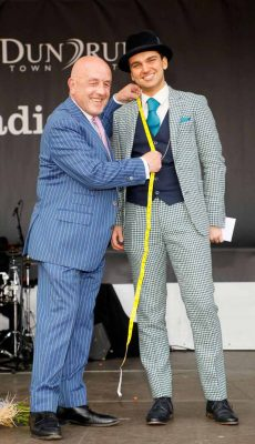 Best Dressed Man Luke Gibbons with Louis Copeland Image Kieran Harnett