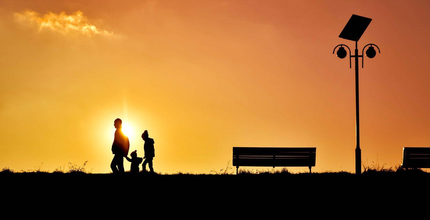 backlit-bench-children-247880