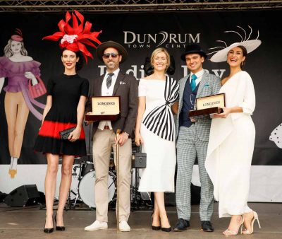 Most Creative Hat Gemma Gleeson, Longnes Elegance is an Attitude Men's Winner Michael Gallagher, Anne Marie Dunning Best Dressed Lady, Louis Copeland Best Dressed Man Luke Gibbons, Denis Curran Longines Elegance is an Attitude Winning Lady