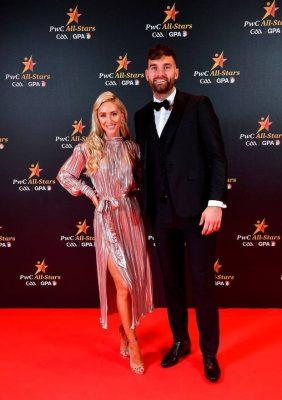 Mayo footballer Aidan O'Shea with Kristin McKenzie Vass