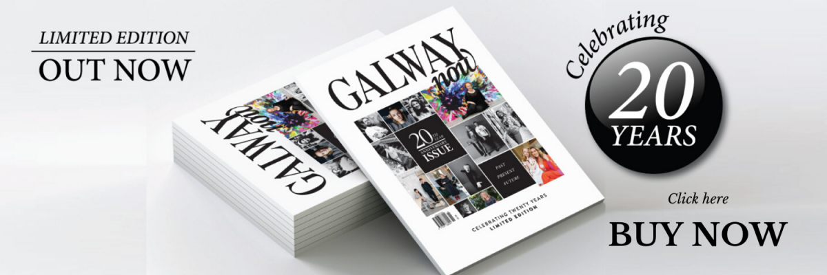 Banner for GALWAYnow Magazine 20 year anniversary edition