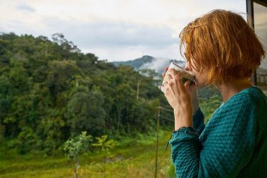 Feature Image, woman drinking tea looking out window