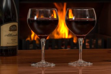 Red Wine by the Fire