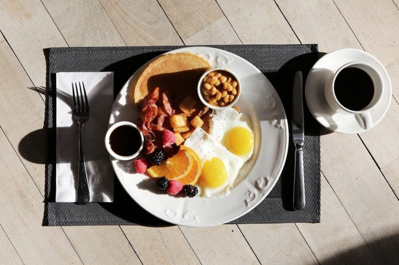 Feature Image: breakfast plate with coffee mug