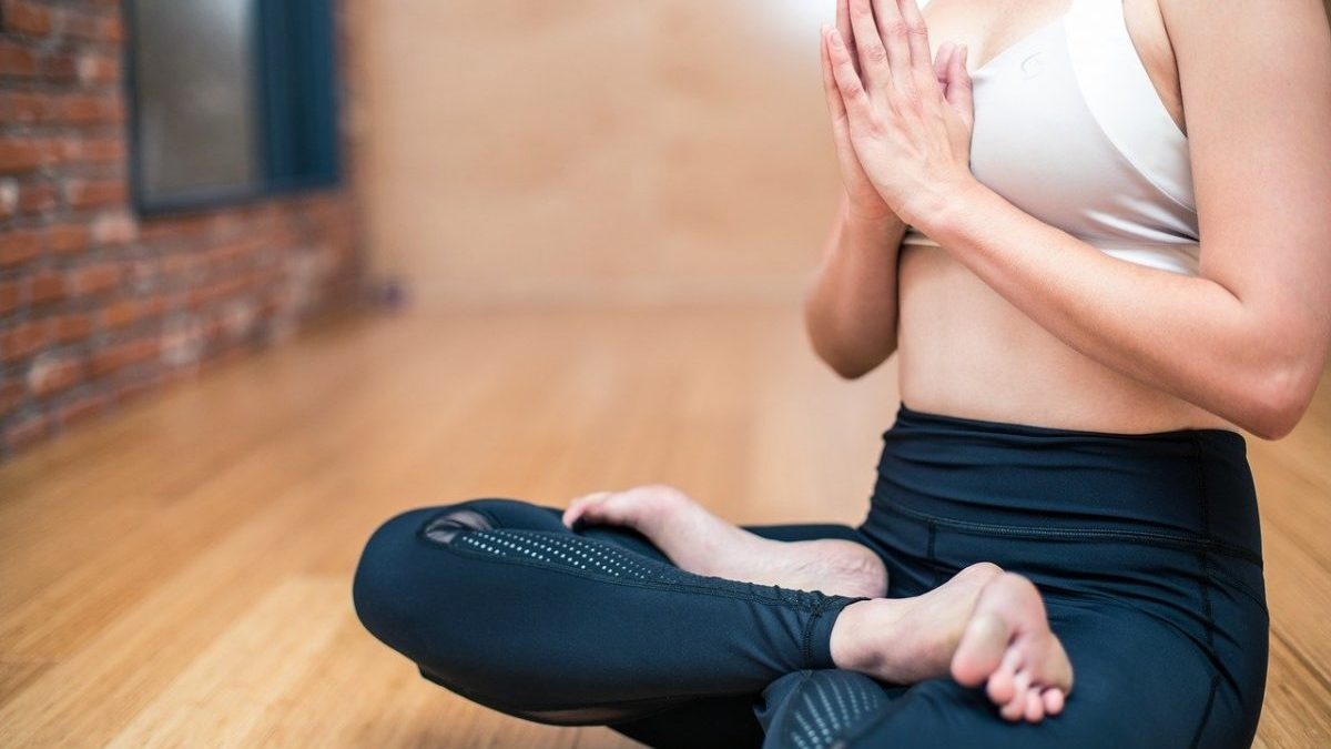 woman in seated meditation position