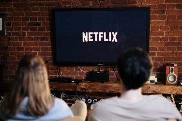 Couple watching Netflix