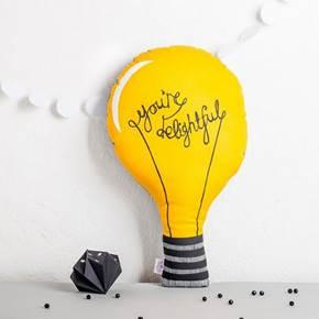 yellow and grey lightbulb artwork